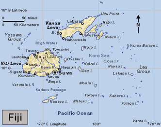Location Fiji - Fiji location